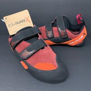 Climb X Red Point NLV Strap Climbing Shoes Sz 38